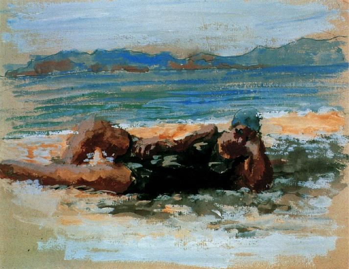 Пабло Пикассо. Купальщицы на пляже. 1920 год