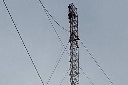 На Украине достроили 150-метровую телевышку для вещания на Крым