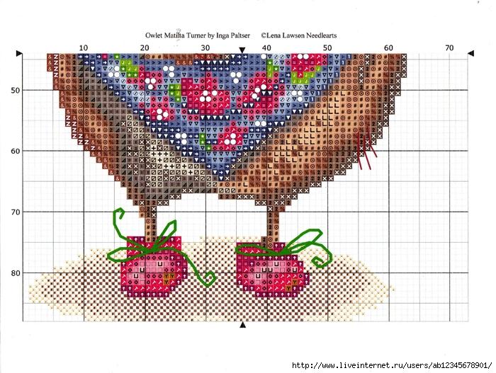 Вышивка крестом совы инги пальцер 95