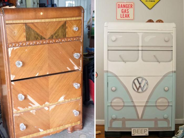 Вот что можно сделать из старой и дряхлой мебели