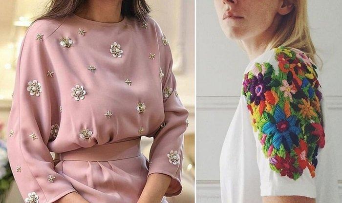 платья из фатина с вышивкой