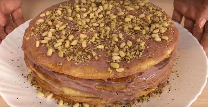 вкусный торт из слоеного теста