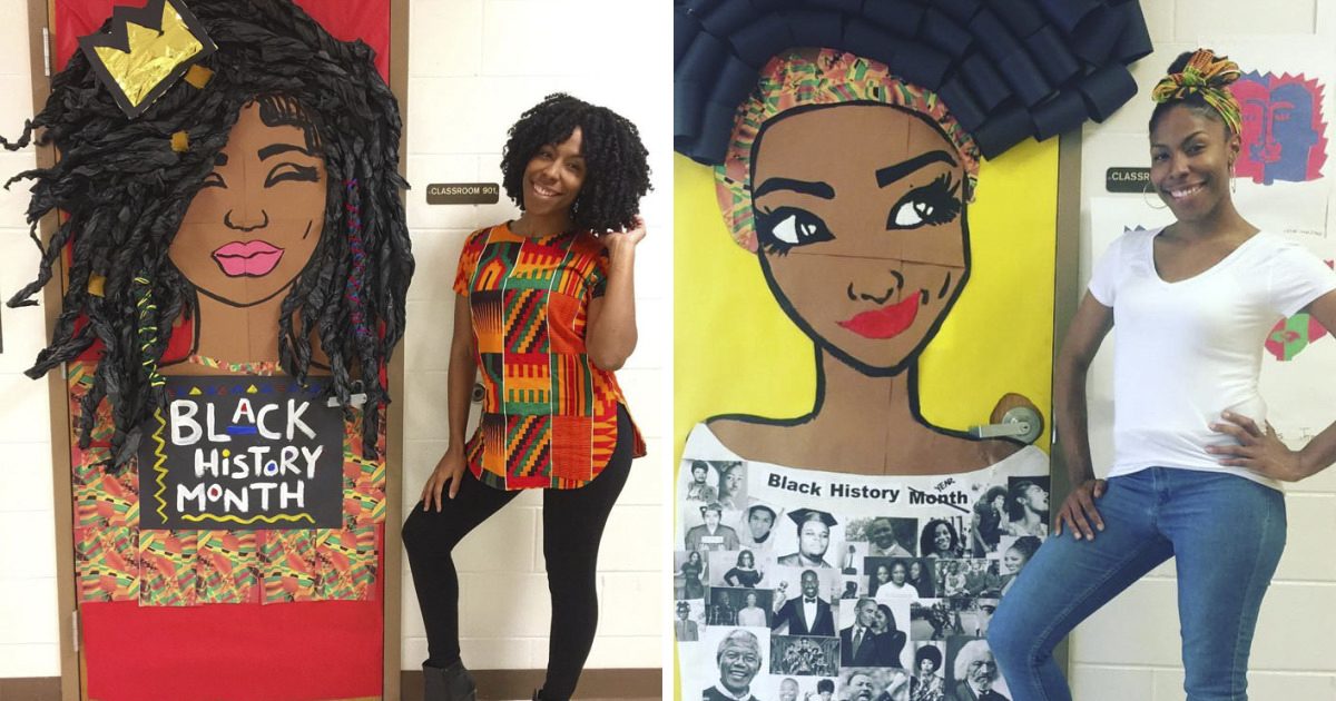 Teachers Around The U.S Are Decking Out Their Doors In Honor Of Black History Month And They Are Stunning