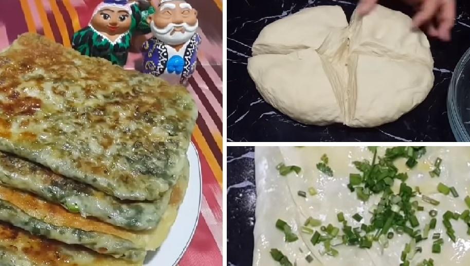 Катлама: очень вкусная лепешка из самых простых продуктов