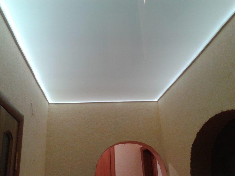 светящийся натяжной потолок фото