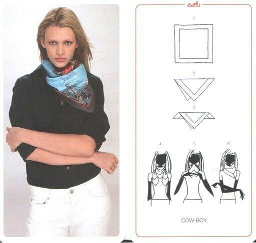 Как носить платки каре (подборка номер...надцать)