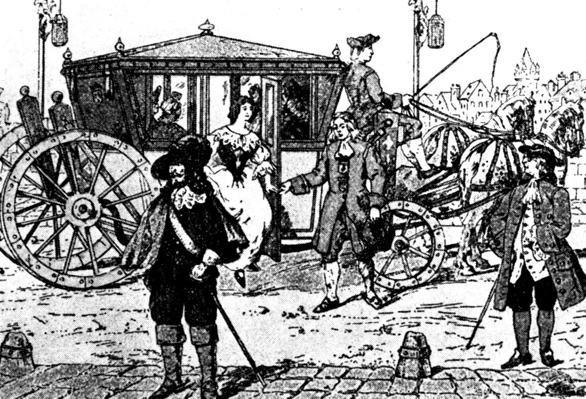 Мушкетеры в маршрутках:   18 марта 1662 года - день рождения  городского транспорта