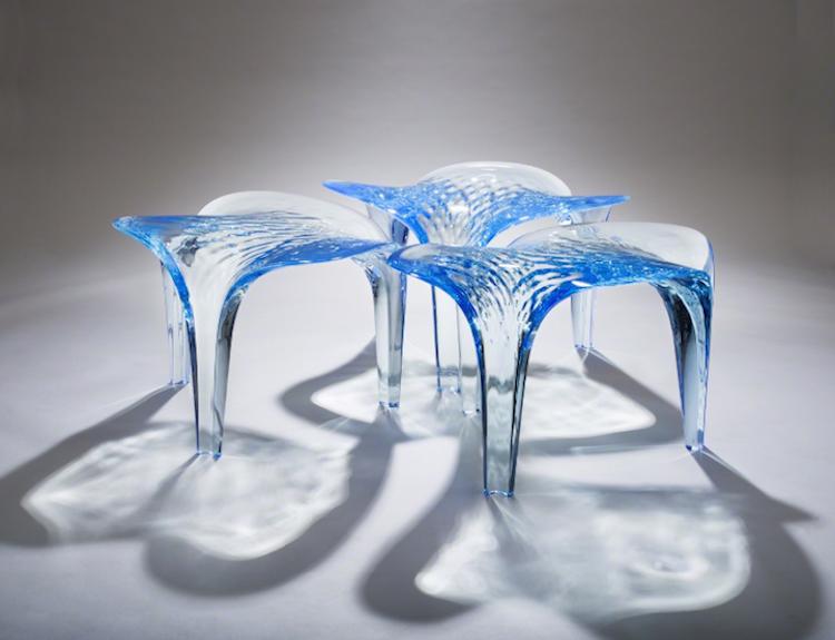 nature-inspired furniture zaha hadid liquid glacial