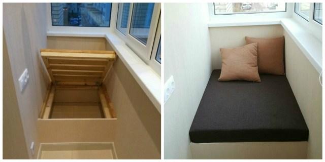 Удобный и практичный диванчик на балкон своими руками