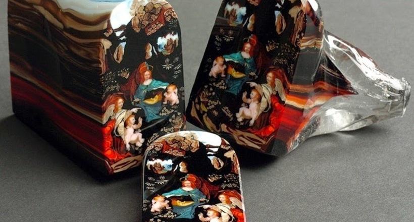 Картинки по запроÑу Древнее иÑкуÑÑтво муррина: картины из Ñтекла, которые нарезаютÑÑ ÐºÐ°Ðº буханки хлеба