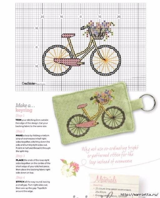 Вышиваем велосипед. Идеи со схемами (5) (512x635, 206Kb)