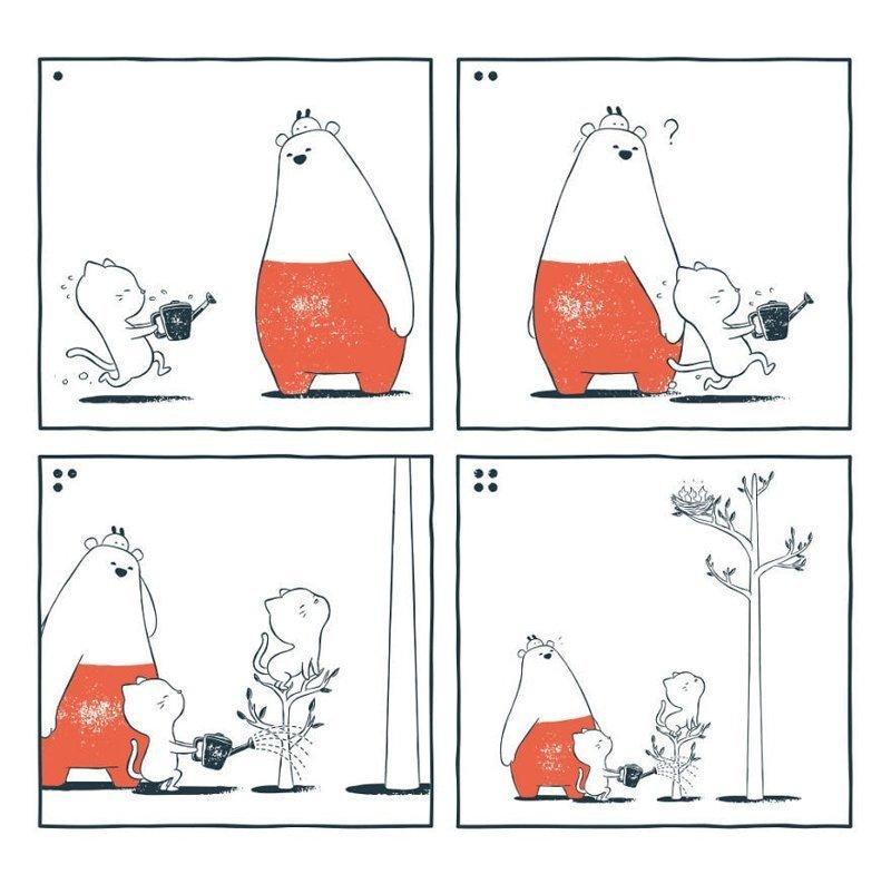 «Выращивание цветка для ланча» забавно, комиксы, подборка, рисунки, юмор