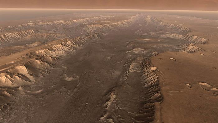 Огромные реки на Марсе