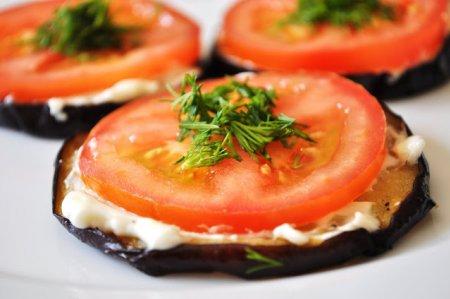 Баклажаны помидорами чесноком фото рецепт