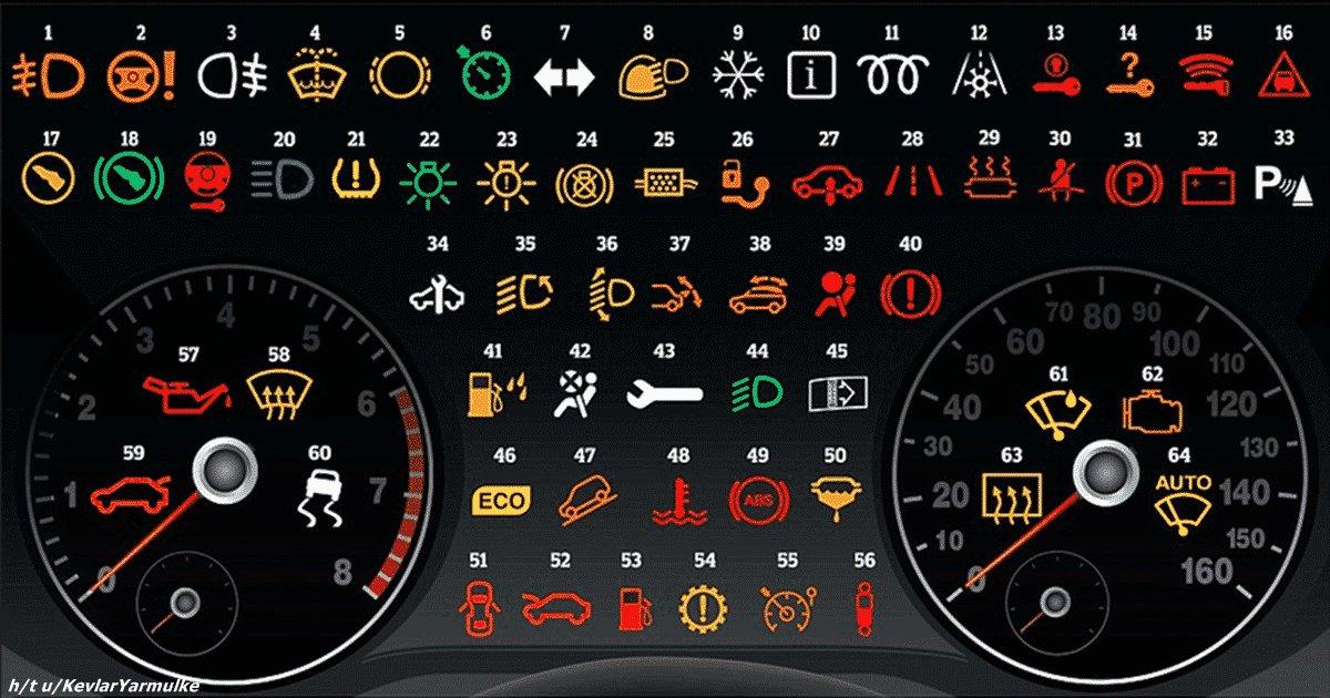 Вот что означают все эти значки на панели приборов вашей машины. Тайна автоиероглифов раскрыта! :)