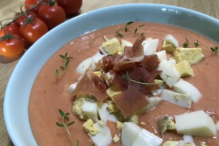 Фото к рецепту: Сальморехо - холодный томатный суп