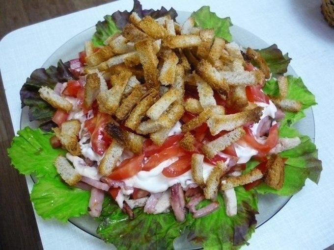 Салат «Кармен». Салат с куриным филе и ветчиной «Кармен»