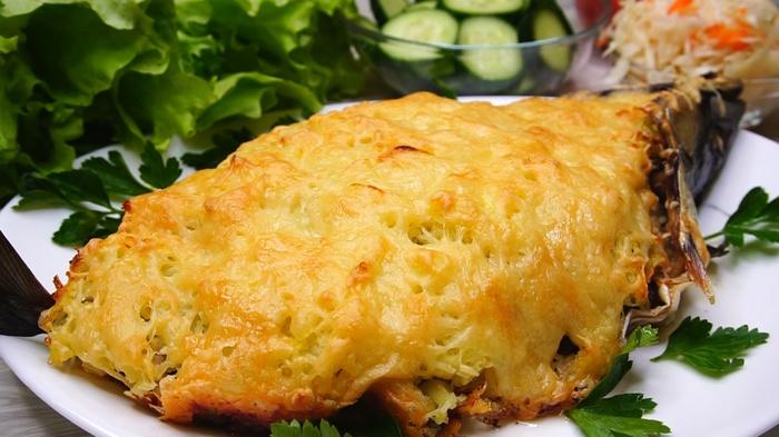 Рыба в шубейке Рыба, Рецепт, Скумбрия, Еда, Видео рецепт, Видео, Длиннопост