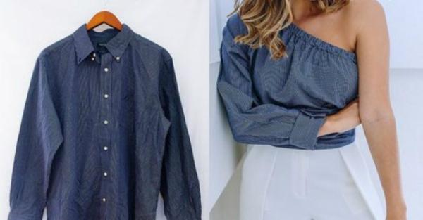Шьем прекрасные вещи из мужских рубашек: 12 великолепный идей