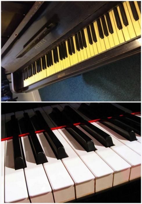 Зубная паста для чистки клавиш рояля.