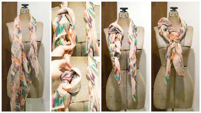 Как завязать шарф на пальто пошаговое фото