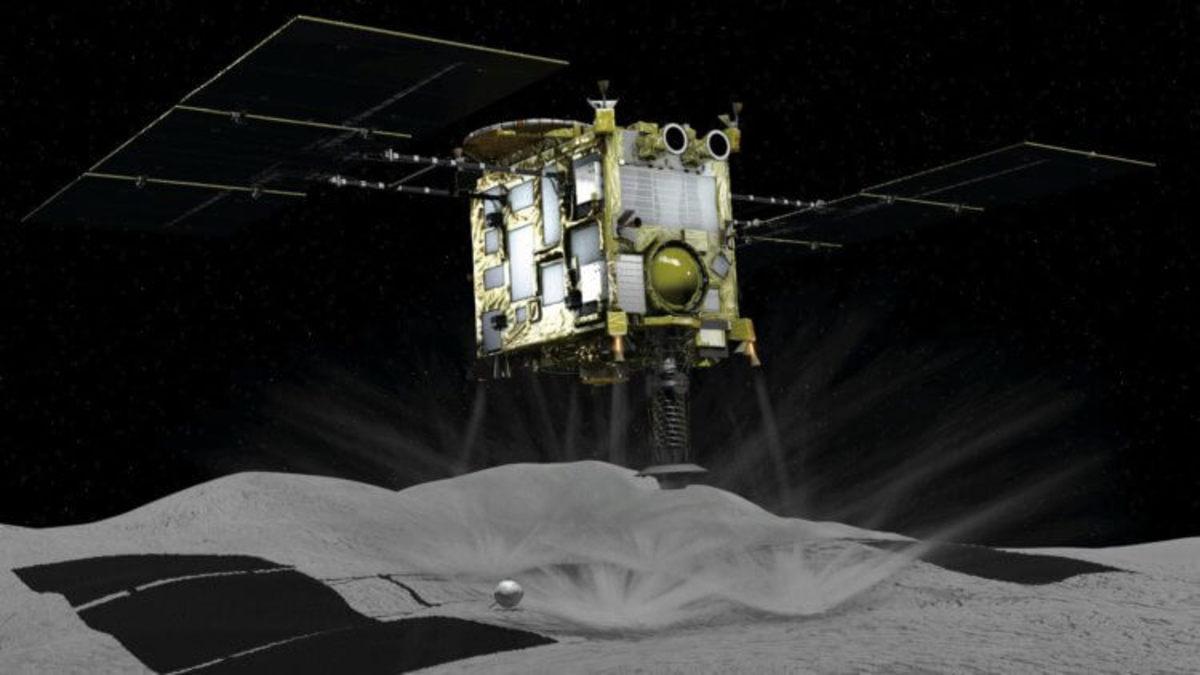 Зонд «Хаябуса-2» не смог забрать грунт с астероида из-за сбоя