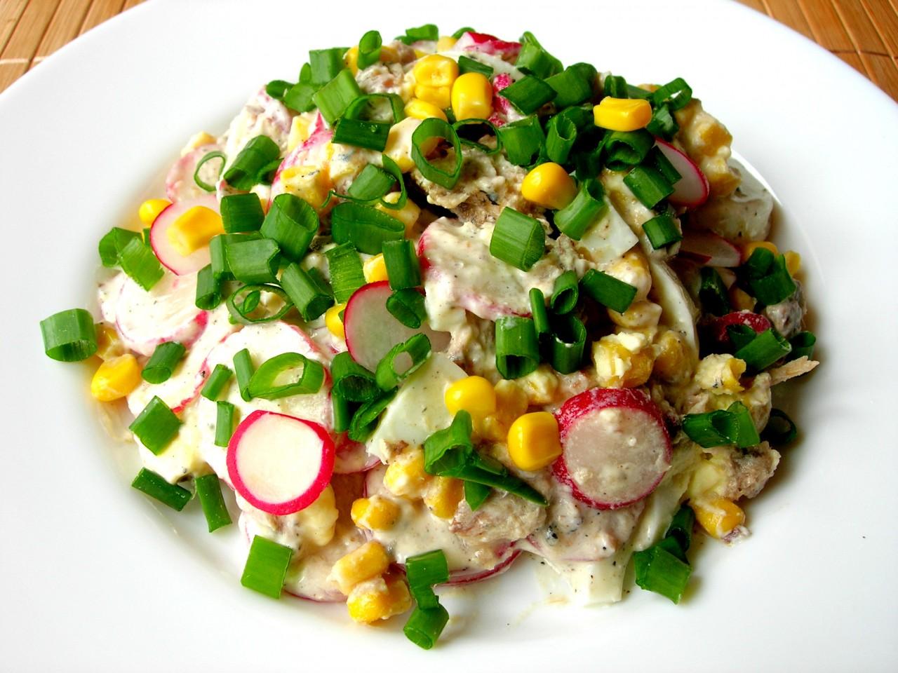 Салат без майонеза «ВЕСЕННЕЕ НАСТРОЕНИЕ». Яркий и вкусный салатик за несколко минут!