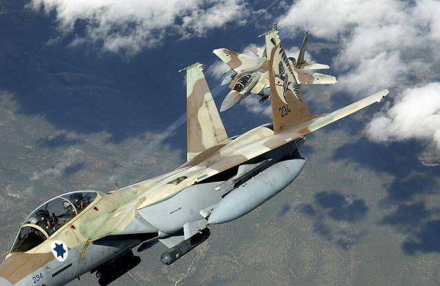 Новый удар ВВС Израиля по позициям сирийской армии