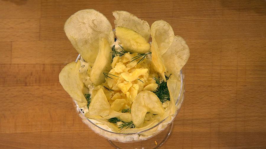 """Порционный салат """"Салат в бокале"""""""
