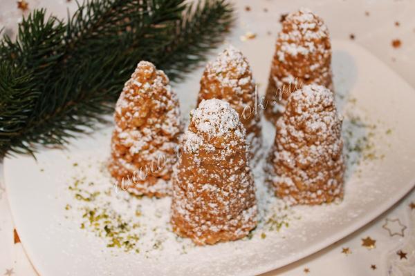 Оригинальное и вкусное печенье «Новогодние шишки»