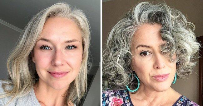 25женщин, которые перестали красить волосы идоказали, что седины нестоит стесняться