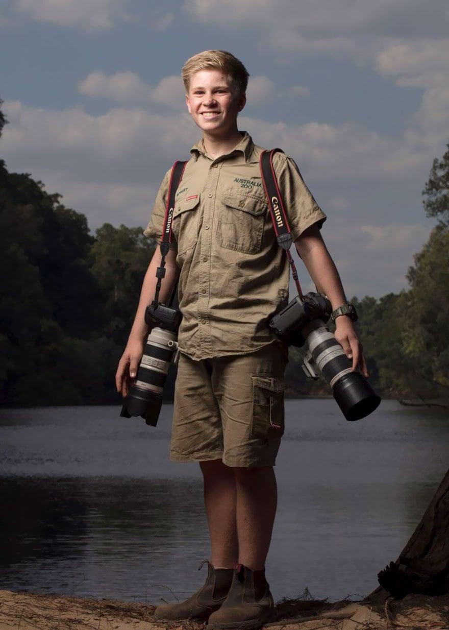14-летний сын Стива Ирвина пошёл по стопам отца и покорил всех снимками дикой природы
