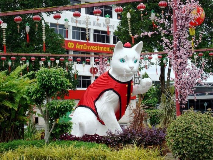 Кучинг: город кошек в Малайзии