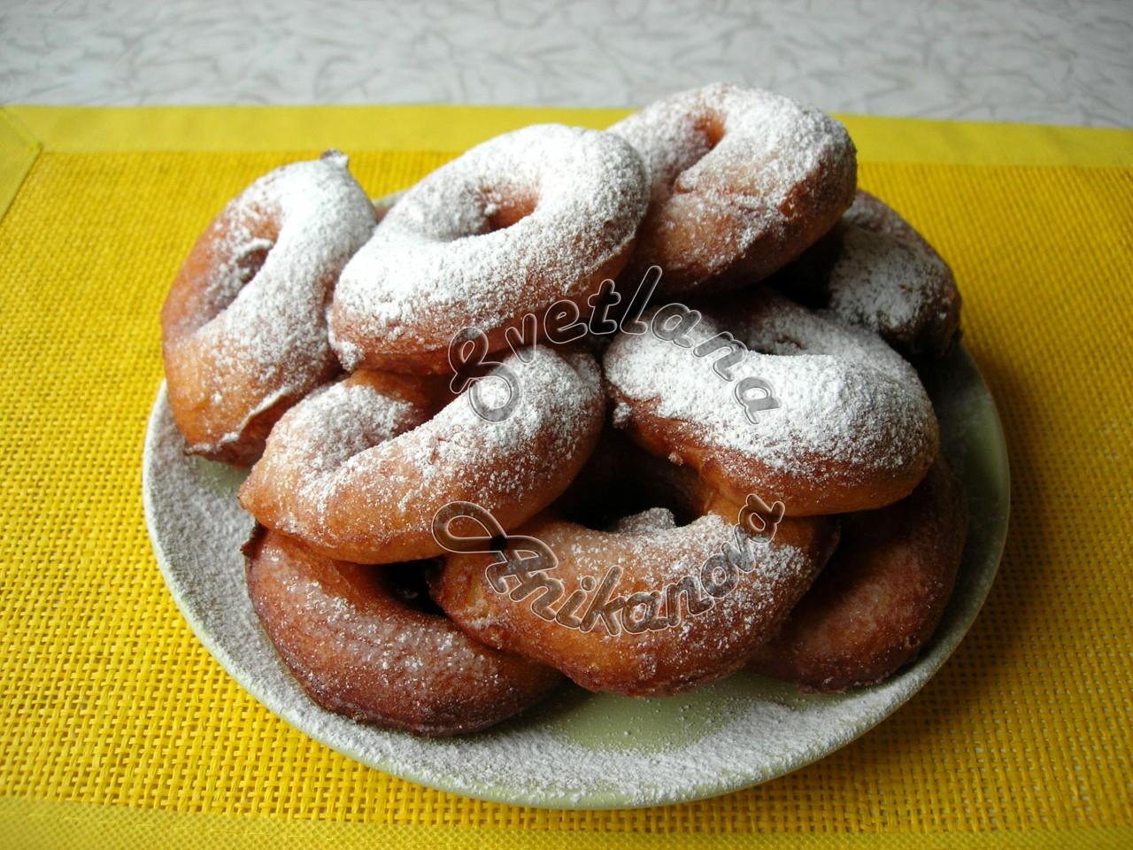Пончики в ложке - рецепт пончиков без раскатывания теста!