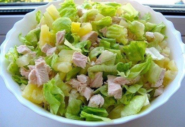 Легкий салат «Дамский рай» на ужин