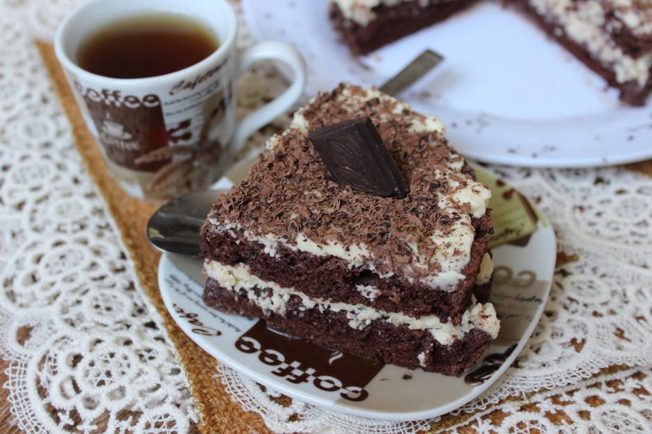 Шоколадный ангельский бисквит