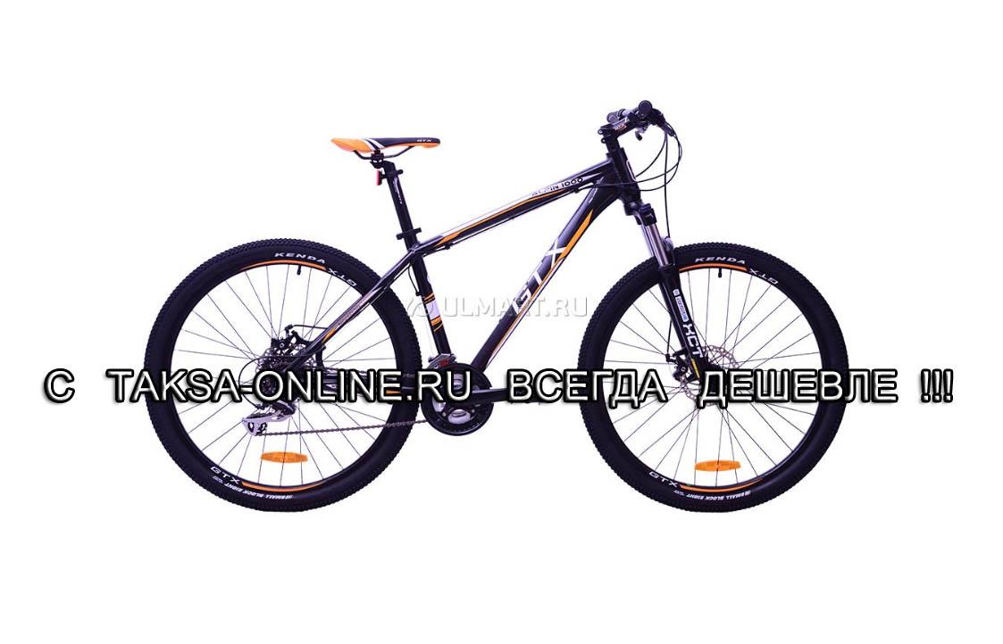 """Велосипед GTX ALPIN 1000, колеса 27.5"""", рама 19"""", 24 скорости, черный/желтый"""