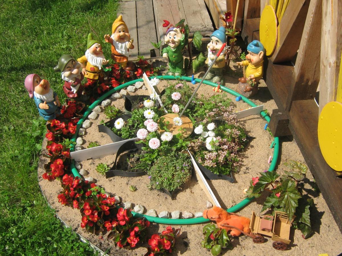 Картинки клумбы для сада своими руками