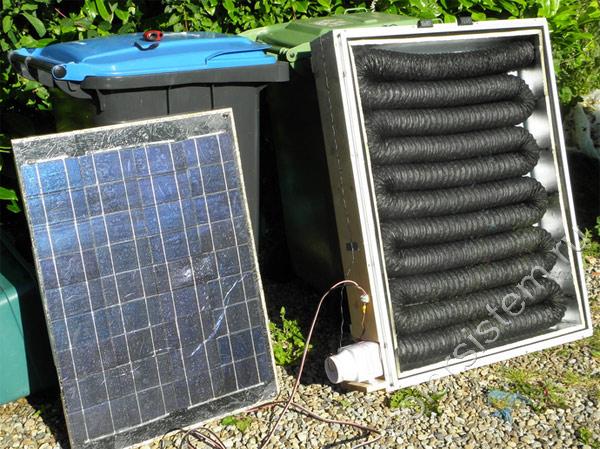 Солнечная воздушная батарея своими руками