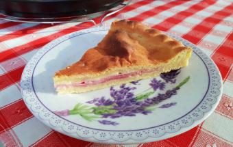Картофельный пирог с ветчино…