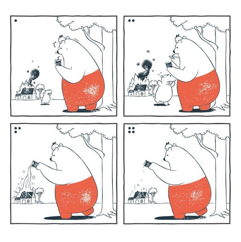 «Пожар» забавно, комиксы, подборка, рисунки, юмор