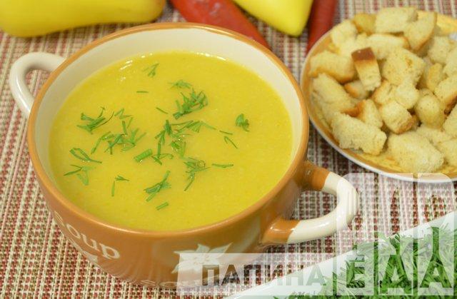 Суп пюре из кабачков и картофеля