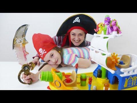 Теперь мы пираты! Новые игры с Гёрл Квест. Маленькие пони Лалалупси.