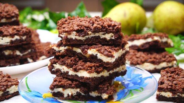 Шоколадное печенье с творожн…