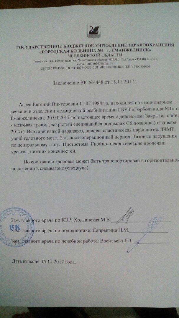 Жители Еманжелинска спасли парализованного парня, от которого отказались жена и мама авария, больница, заработки, помощь, работа
