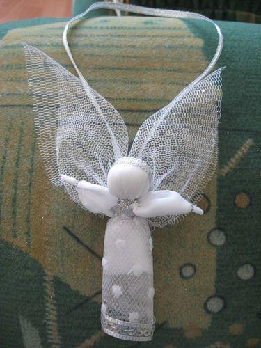 Ангелочки из органзы своими руками