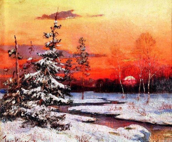 Художник, влюбленный в закат…
