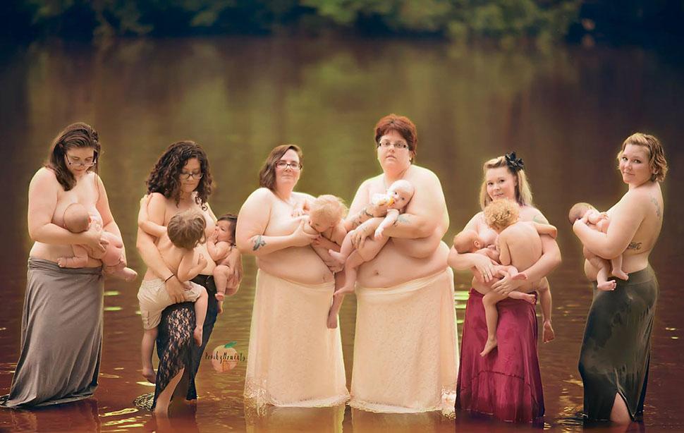 Голые груди кормящих матерей теперь везде. Феминистки побеждают 1