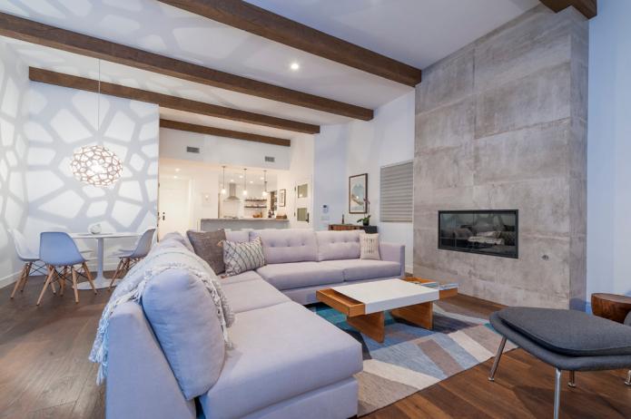 Бетон в интерьере: варианты оформления, дизайн, виды, имитация бетонного покрытия