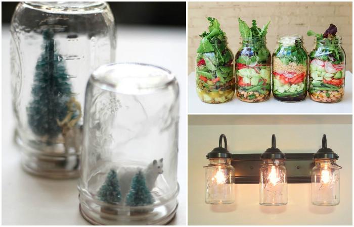 Как использовать стеклянные банки-бутылки помимо консервации